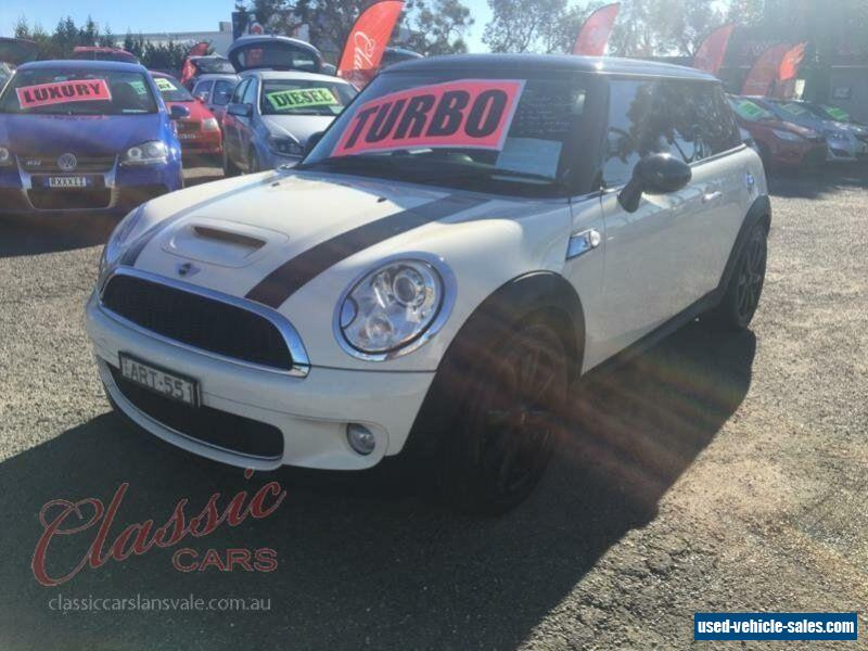 2007 Mini Cooper R56 S White Manual 6sp M PERFORMANCE SPORTS For Sale
