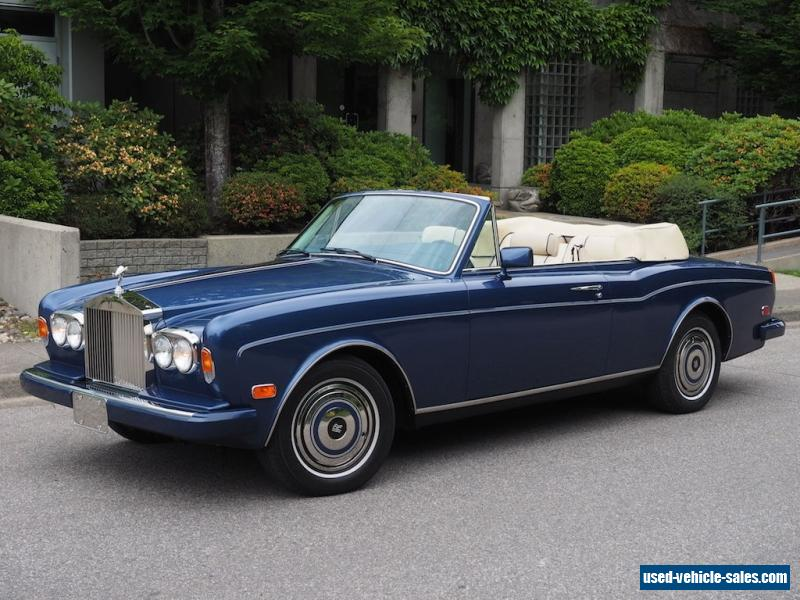 1989 rolls royce corniche for sale in canada. Black Bedroom Furniture Sets. Home Design Ideas