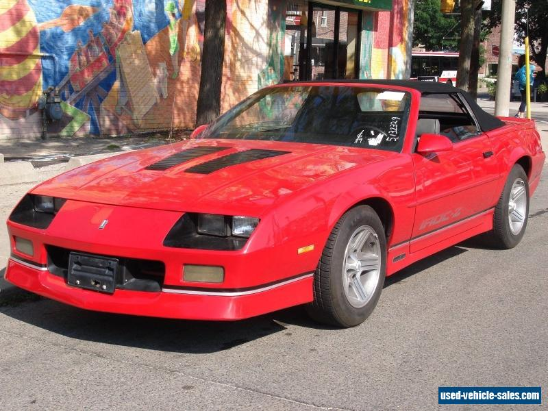 1988 chevrolet camaro for sale in canada. Cars Review. Best American Auto & Cars Review