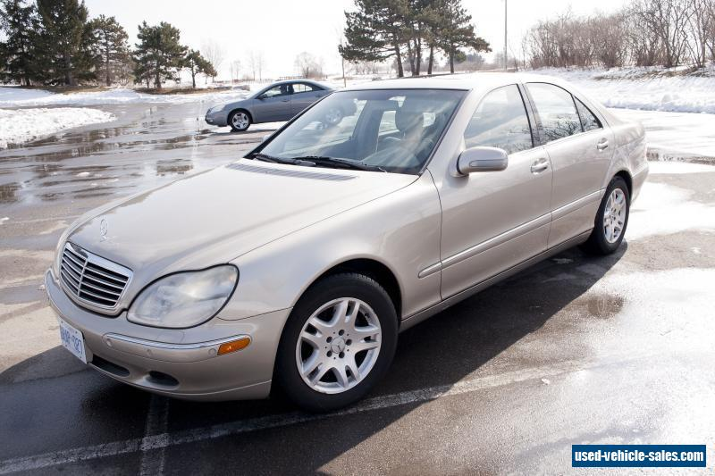 2000 mercedes benz s class for sale in canada for Mercedes benz s class 2000