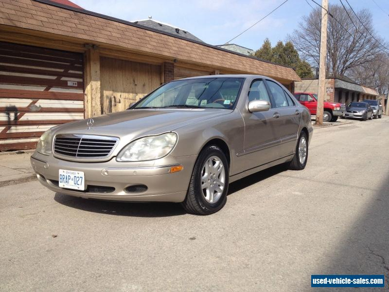 2000 mercedes benz s class for sale in canada. Black Bedroom Furniture Sets. Home Design Ideas