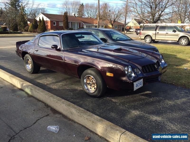 1978 Chevrolet Camaro For Sale In Canada