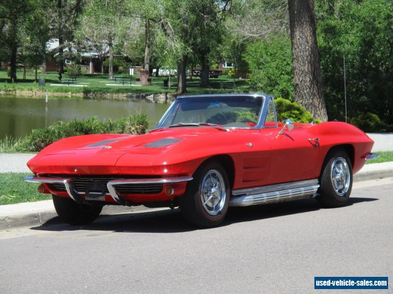 1963 chevrolet corvette base convertible 2 door for sale. Cars Review. Best American Auto & Cars Review
