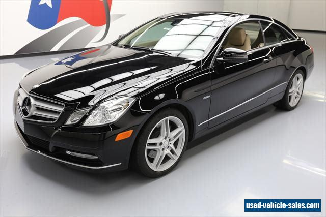 2012 mercedes benz e class for sale in the united states for Mercedes benz 2 door coupe for sale