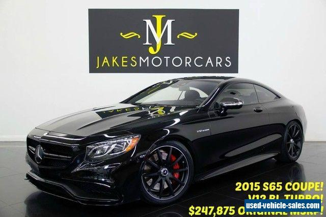 2015 mercedes benz s class for sale in canada for 2015 mercedes benz s class s65 amg