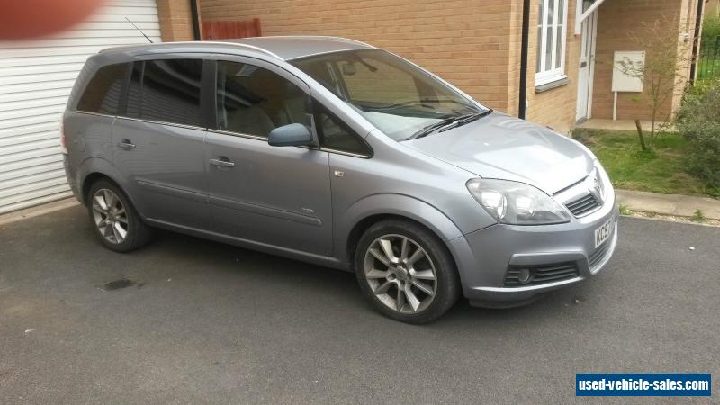 2007 vauxhall zafira design turbo for sale in the united kingdom. Black Bedroom Furniture Sets. Home Design Ideas