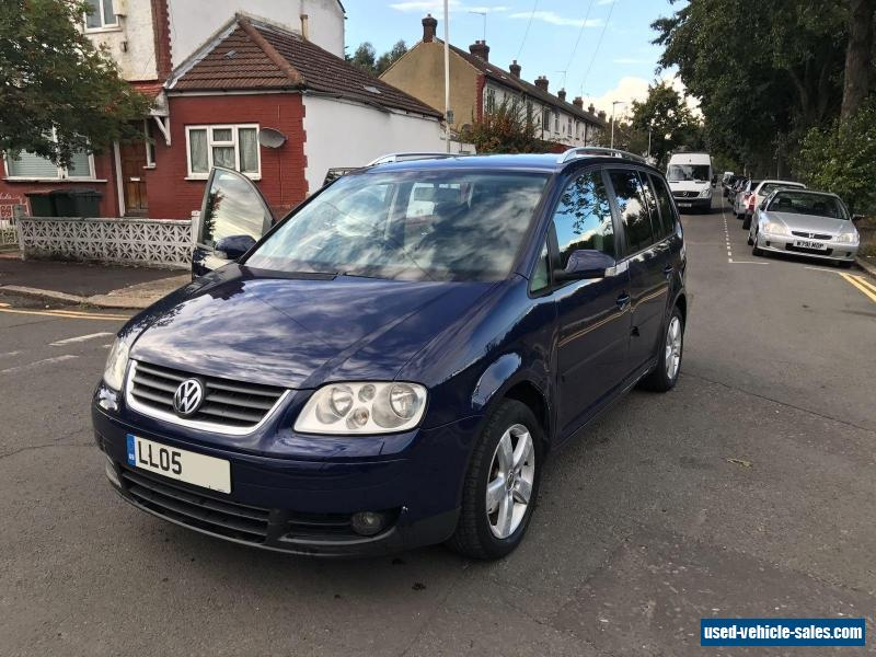 2005 volkswagen touran tdi sport 2 0 tdi for sale in the united kingdom. Black Bedroom Furniture Sets. Home Design Ideas