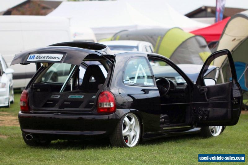 1999 vauxhall corsa sport 1 6i for sale in the united kingdom. Black Bedroom Furniture Sets. Home Design Ideas