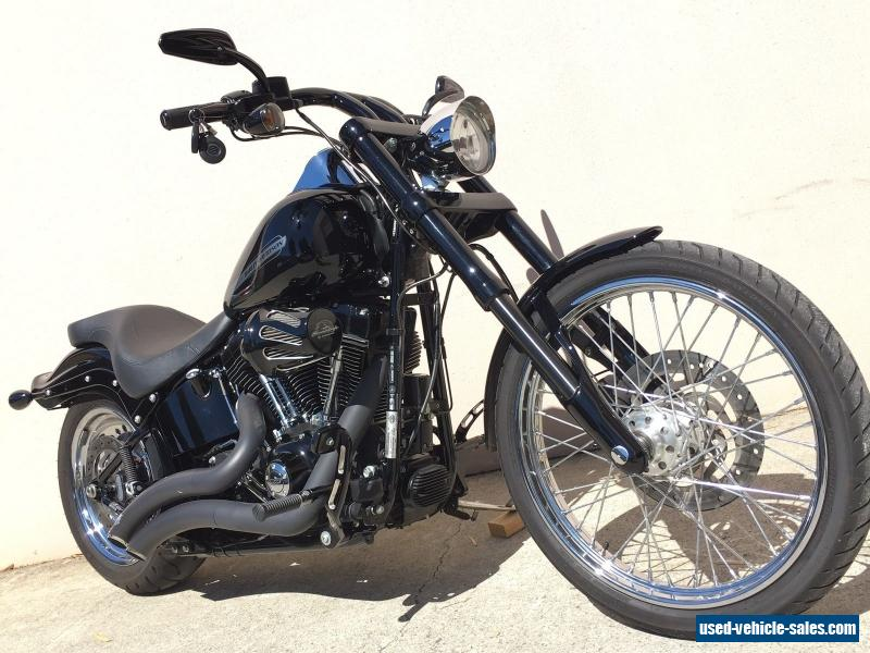 2013 Harley Davidson Custom Softail with 6000kms Inverted Front End