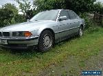 1997 BMW 728 I AUTO SILVER Spares or repair for Sale