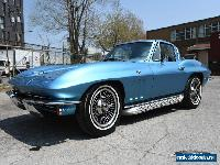 1965 Chevrolet Corvette Nassau blue Covette knock off wheels, side pipes for Sale