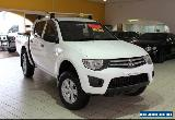 2011 Mitsubishi Triton GLX MN MY11 White Manual M Dual Cab Utility for Sale