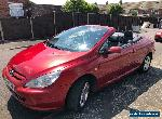 PEUGEOT 307 CC 1.6 CONVERTIBLE 7 SERVICE STAMPS CAMBELT CHANGED LONG MOT for Sale