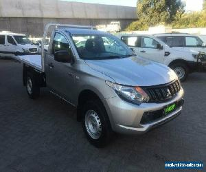 2016 Mitsubishi Triton MQ MY16 GLX Silver Manual 5sp M Cab Chassis for Sale