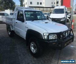 2011 Nissan Patrol MY11 Upgrade DX (4x4) White Manual 5sp M Cab Chassis for Sale