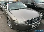 2002/52 AUDI A4 CABRIOLET 2.4 SPORT M-T- CONVERTIBLE, 81K MILES, 1/2LEATHR, NICE for Sale