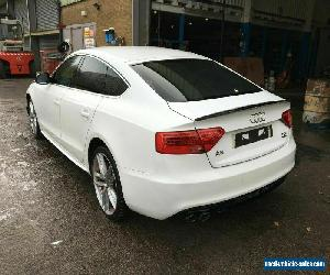 2012 12 REG AUDI A5 S LINE 5dr WHITE 2.0 DIESEL MANUAL DAMAGED SALVAGE for Sale