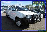 2010 Toyota Hilux KUN26R 09 Upgrade SR5 (4x4) White Manual 5sp M for Sale
