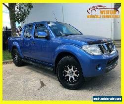 2013 Nissan Navara D40 S6 ST Utility Dual Cab 4dr Man 6sp 4x4 808kg 2.5DT Blue for Sale