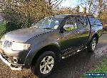 2013 MITSUBISHI L200 WARRIOR LB DCB 4X4 2.5 DIESEL - DAMAGED REPAIRABLE  for Sale