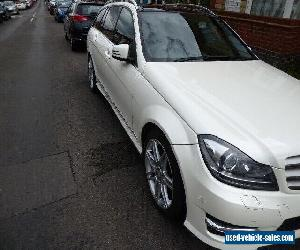 Mercedes-Benz C Class 2.1 C220 CDI AMG Sport 7G-Tronic Plus 5dr Pearl White for Sale