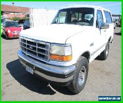 1993 Ford Bronco 4x4 Sport Utility XLT for Sale