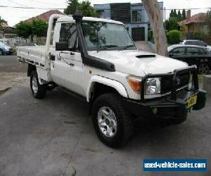 2012 Toyota Landcruiser VDJ79R 09 Upgrade GX (4x4) White Manual 5sp M for Sale