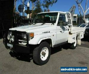 1998 Toyota Landcruiser FZJ75RP (4x4) White Manual 5sp M Cab Chassis for Sale