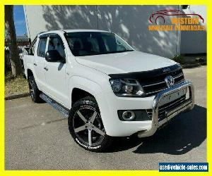 2015 Volkswagen Amarok White Manual M Utility for Sale