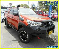 2018 Toyota Hilux GUN126R Rugged X (4x4) Red Automatic 6sp A Dual Cab Utility for Sale