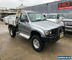 2002 Toyota Hilux VZN167R (4x4) Silver Manual 5sp M Cab Chassis for Sale