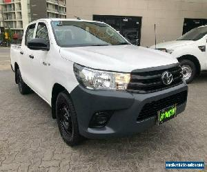 2015 Toyota Hilux TGN121R Workmate White Automatic 6sp A Dual Cab Utility for Sale