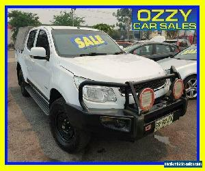 2013 Holden Colorado RG LX (4x4) White Manual 5sp M Crew Cab P/Up for Sale
