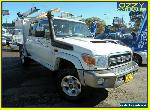 2013 Toyota Landcruiser VDJ79R MY12 Update GXL (4x4) White Manual 5sp M for Sale