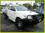2008 Toyota Hilux KUN26R 08 Upgrade SR (4x4) White Manual 5sp M X Cab C/Chas for Sale