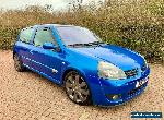 2004 Renault Clio 2.0 16v Renaultsport 182 FF Cup RS Blue 172 Trophy Track Car for Sale