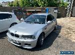 BMW E46 M3 Convertible with Hard top - NO RESERVE for Sale