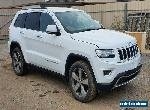 2015 JEEP GRAND CHEROKEE LIMITED WK DIESEL TURBO 8SPD AUTO DAMAGED REPAIRABLE for Sale