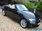 STUNNING 2009 BMW 123D M SPORT CONVERTIBLE MANUAL BLACK for Sale