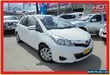 2014 Toyota Yaris NCP130R YR White Manual 5sp M Hatchback for Sale