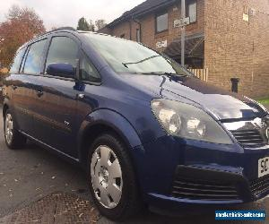 2007 VAUXHALL ZAFIRA LIFE BLUE for Sale