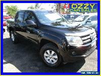 2012 Volkswagen Amarok 2H MY12 TDI400 Trendline (4x4) Black Manual 6sp M for Sale