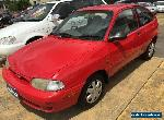 1997 Ford Festiva WD Trio Red Manual 5sp M Hatchback for Sale