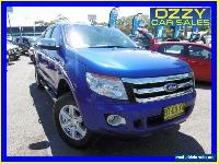 2013 Ford Ranger PX XLT 3.2 (4x4) Blue Automatic 6sp A Dual Cab Utility for Sale