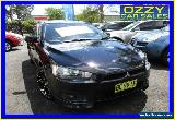 2008 Mitsubishi Lancer CJ MY09 VR-X Sportback Black Manual 5sp M Hatchback for Sale