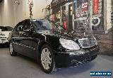2001 Mercedes-Benz S600 V220 L Obsidian Black Automatic 5sp A Sedan for Sale