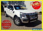 2013 Ford Ranger PX PX XLT DOUBLE CAB MANUAL TURBO DIESEL White Manual 6sp M for Sale