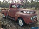 Ford F100 1948 F1,V8 ute,project,hot rod,custom,or rat rod patina. for Sale