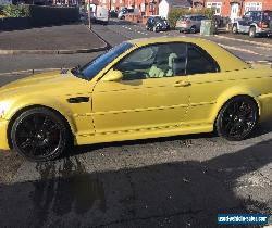 phoenix yellow BMW 2003 E46 M3 CONVERTABLE with hard top for Sale