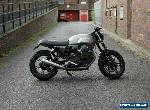 BEAUTIFUL MOTO GUZZI V7 II STONE ABS SILVER MATTE GREY CUSTOM CAFE RACER 2018  for Sale